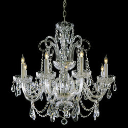 Crystorama - Crystorama 5008-PB-CL-MWP Traditional Crystal 8 Light Chandeliers in Polished Br - Traditional crystal chandeliers are classic, timeless, and elegant. Crystorama''s opulent glass arm chandeliers are nothing short of spectacular. This collection is offered in a variety of crystal grades to fit any budget. For a touch of class, order this collection in Gold for traditionalists or in Chrome to match your contemporary or transitional decor.