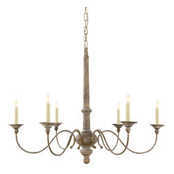 Visual Comfort & Co. - Visual Comfort & Co. S5211BW Studio Country 6 Light Chandeliers in Belgian White - This 6 light Chandelier from the Studio Country collection by Visual Comfort will enhance your home with a perfect mix of form and function. The features include a Belgian White finish applied by experts. This item qualifies for free shipping!