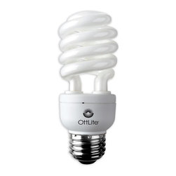 OttLite - 15 Watt HD Edison Swirl Screw Bulb - Set of 8 - Set of 8. Replaces 60W Incandescent bulbs. Perfect for reading, creating and office spaces. Low heat, low glare illumination helps reduce eyestrain. 4.875 in. L x 1.875 in. W x 5.875 in. H (1 lbs.)15W screw-in bulb delivers the right mix of brightness and contrast to bring true colors and comfortable clarity to your world so you can enjoy your time even more. You'll see colors accurately so you can make selections with total confidence.  And, you'll see fine print and details with ease under this unique low-heat, low-glare illumination that helps reduce eyestrain.
