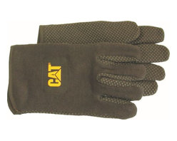 Cat Gloves & Rainwear Co - Glove Jersey Fleece-Lined with Dots - CAT logo on woven label sewn on back of each hand.