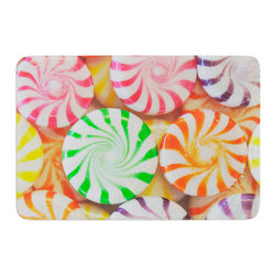 "KESS InHouse - Libertad Leal ""I Want Candy"" Memory Foam Bath Mat (17"" x 24"") - These super absorbent bath mats will add comfort and style to your bathroom. These memory foam mats will feel like you are in a spa every time you step out of the shower. Available in two sizes, 17"" x 24"" and 24"" x 36"", with a .5"" thickness and non skid backing, these will fit every style of bathroom. Add comfort like never before in front of your vanity, sink, bathtub, shower or even laundry room. Machine wash cold, gentle cycle, tumble dry low or lay flat to dry. Printed on single side."
