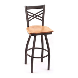Cambridge 36-inch Maple Lattice-back Bar Stool -