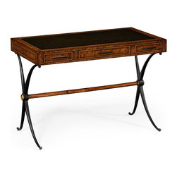Jonathan Charles - New Jonathan Charles Desk Oak Hammered Iron - Product Details