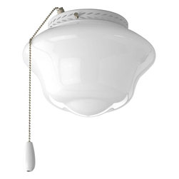 Progress Lighting - Progress Lighting Schoolhouse One-Light Ceiling Fans - P2644-30 - Description: