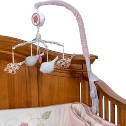 Banana Fish - Bananafish Love Bird Musical Mobile - Lull your baby to sleep with the coordinating Lovebird musical mobile. Featuring a pretty coordinating design, this musical mobile plays a gentle lullaby to relax your baby.