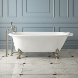 "68"" Hofburg Cast Iron Clawfoot Tub - The spacious 68"" Hofburg Cast Iron Clawfoot Tub marries classic style with comfort."