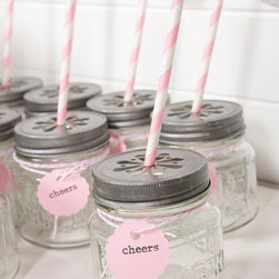 Light Pink Party Drink Kit by The Papered Nest - A vintage-chic, pretty-in-pink, Insta-Party. Just add pink cocktail and you are good to go!