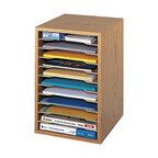 Safco Vertical Desktop Organizer, Medium Oak -