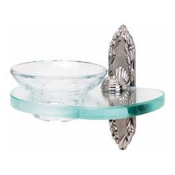 Alno Inc. - Alno Ribbon & Reed Soap Holder With Dish Satin Nickel - Alno Ribbon & Reed Soap Holder With Dish Satin Nickel