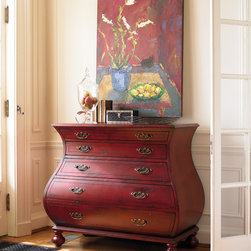 Hooker Furniture - Hooker Furniture Red Bombe Chest 5102-85001 - Hooker Furniture Red Bombe Chest 5102-85001