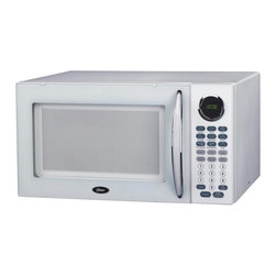 Oster - Oster OGB81101 1.1 cu. ft. Digital Microwave Oven - White - 836321005611 - Shop for Microwave Ovens from Hayneedle.com! With a direct and easy-to-read menu the Oster OGB81101 1.1 cu. Ft. Digital Microwave Oven White is the perfect choice for your kitchen. A 9-item quick menu makes mealtime more convenient and 10 adjustable power levels ensure that your food will be heated to your liking. You can cook and defrost by weight and even speed defrost when you're crunched for time. The clean white color and design will add an updated look to your kitchen.