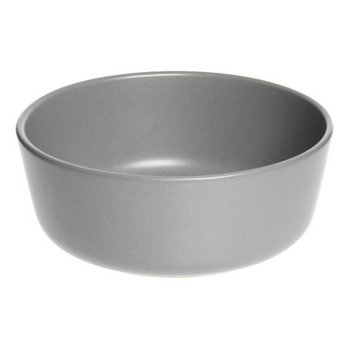 Contemporary Ceramic Bowl - Set of 4, Gray - Noshers and nibblers of the world, meet our collection of dinnerware. These durable stoneware bowls were designed to serve up cereal, soups, and other tasty assortments. Handmade in Thailand, each piece in this Bowl Set features a matte glaze in neutral gray for easy mixing with your existing mealtime essentials. Whether you're having a dinner party or a party of one, these dishes are delightful.