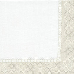 Ballard Designs - Hemstitch Paper Dinner Napkins - Set of 100 - Add a monogram for a custom touch. Available in 4 colors. Coordinating Cocktail, Luncheon & Dinner size. Imported from Germany. Strong, soft and absorbent, our Hemstitch Napkins are nice enough for a dinner party and strong enough for an outdoor BBQ. Crisply printed on biodegradable triple-ply paper made from managed forests. Hemstitch Napkin features: . . . .