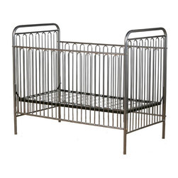 Corsican - Corsican Classic Iron Crib - 43252-101 - Shop for Cribs from Hayneedle.com! For a classic look that's not too fussy try the Corsican Classic Iron Crib. The hand-forged wrought iron slats curve gently at the top for a softer look. The side rails are stationary for your baby's safety. For your convenience the mattress height can be adjusted to multiple levels when your baby is small put the mattress up high to reach him easily and lower it as he grows so he can't fall out. Corsican cribs fit standard crib mattresses and each crib is custom made when you order it. Note: This item can only be shipped within the 48 contiguous states. Dimensions: Crib: 54L x 30W x 44H in. Headboard/Footboard: 44H in. Side rails: 36H in. JPMA certified (requirements developed and published by ASTM International). About CorsicanWith a commitment to quality and attention to detail Corsican has been manufacturing iron furniture and accessories for more than 40 years. Their skilled craftsmen uphold a tradition of handcrafted beauty personal care and attention to detail.
