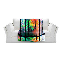 DiaNoche Designs - Throw Blanket Fleece - The Four Seasons - Original artwork printed to an ultra soft fleece blanket for a unique look and feel of your living room couch or bedroom space. Dianoche Designs uses images from artists all over the world to create Illuminated art, canvas art, sheets, pillows, duvets, blankets and many other items that you can print to. Every purchase supports an artist!
