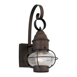Designers Fountain - Designers Fountain Nantucket Outdoor Wall Mount Light Fixture in Rustique - Shown in picture: Nantucket Outdoor Lighting in Rustique finish