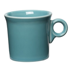 Fiesta - Fiesta Turquoise Mug 10.25 oz. - Set of 4 Multicolor - HPJC1276 - Shop for Mugs from Hayneedle.com! About FiestaAmerica's favorite dinnerware line Fiesta was introduced by the Homer Laughlin China Company in 1936. Available in plenty of bright vibrant colors and unique shapes Fiesta dinnerware and serveware features Art Deco-style concentric rings. Made from durable restaurant-quality ceramic and finished in lead- and cadmium-free glazes this line of kitchenware is easy to mix and match to create your own custom set. Best of all each piece is microwave- and oven-safe and dishwasher-safe for easy cleanup.