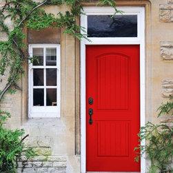 Smooth Skin Fiberglass Door Series - DRS2G Red Door-