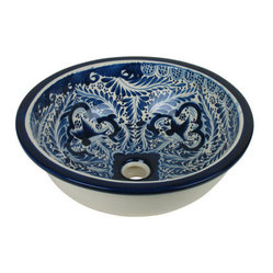 Blue & White Talavera Sink