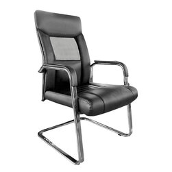 At the Office - 5 Series Guest Chair - This smartly designed chair features a mesh panel on the backrest, allowing your cool guest to stay cool. It also features excellent padding for the backs of thighs and knees, providing superior comfort.