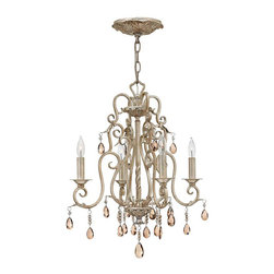 Hinkley Lighting - Hinkley Lighting 4774SL Carlton Silver Leaf 4 Light Chandelier - Hinkley Lighting 4774SL Carlton Silver Leaf 4 Light Chandelier
