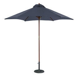 Tropishade - TropiShade 9-foot Blue Umbrella Shade - This classy umbrella shade will add some outdoor style to your home or office. Characterized by a broad blue canopy supported by six sturdy ribs,its tall slender frame is designed out of wood and polished with an attractive teak finish.