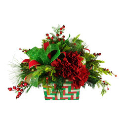 TableCenterpieces.net - Faux Floral Christmas Centerpiece - Details on Christmas Centerpieces