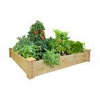 Greenes - Economy Cedar Raised Bed - Inexpensive Cedar Raised Bed - Good Quality, Great Value For Vibrant & Elegant Flower & Vegetable Gardens