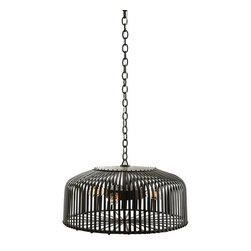 Arteriors Home - Arteriors Home Carasel Chandelier - Arteriors Home DK82055 - Here is your chance to have a floating piece of art in your room. If you're a fan of industrial art and you're looking for a bold lighting statement for your loft or contemporary space, check out this industrial metal chandelier. It's where antiqued glass and heavy metal meet.