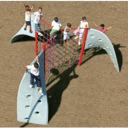 Sportsplay Three Panel Rope Aztec Climber - Like little mountain goats, kids just won't be able to stay away from the Sportsplay Three Panel Rope Aztec Climber. Made of high quality plastic, it features rope panels with several angles for climbing. It can be used by 20 children at once so everyone can get in on the fun.About SportsPlay EquipmentFrom early childhood to early teens, SportsPlay offers a broad range of fun, value added products manufactured for quality and long-term performance. Their mission is to provide fun equipment of exceptional safety, durability and value on the playground and in the neighborhood.SportsPlay is proud to offer IPEMA certified products. In the interest of public playground safety, IPEMA provides a third-party certification service whereby a designated independent laboratory validates a manufacturer's certification of conformance to the ASTM F-1487 (excluding section 10 and 12.6.1), Standard Consumer Safety Performance Specification For Public Use, standard. The use of this seal signifies that SportsPlay Equipment has received written validation from the independent laboratory that the product associated with the use of the seals conforms to the requirements of ASTM F-1487.SportsPlay Equipment is a member in good standing of IPEMA, the International Play Equipment Manufacturers Association. IPEMA is a member-driven international trade organization, which represents and promotes an open market for manufacturers of play equipment and surfacing.