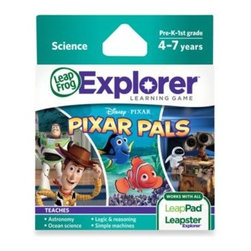 Leap Frog - LeapFrog Explorer Disney Pixar Pals Learning Game - Complete science and logic challenges with the LeapFrog Explorer Pixar Pals Game. Your children will solve puzzles, unlock mini-games, and hang out with WALL-E, EVE, Nemo, Dory, Woody & Buzz!