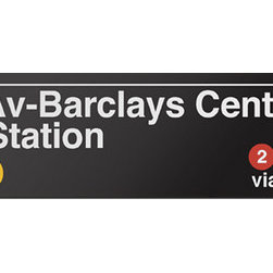 Underground Signs - Barclays Center - Home of the Brooklyn Nets, underwritten by Jay-Z. Sign is made to order, lead time 1-3 weeks.