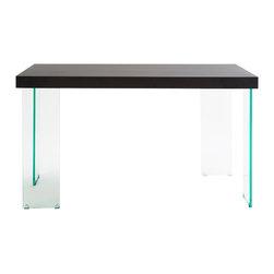 Eurostyle - Euro Style Cabrio Collection Desk Glass in Clear/Wenge - Desk Glass in Clear/Wenge in the Cabrio Collection by Eurostyle