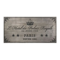 Uttermost - Uttermost 13856 Palais Royale Plaque Art - Wall plaque features an antiqued silver leaf finish with dusty black, embossed details.