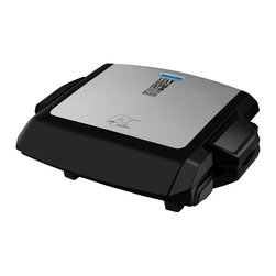 Salton - George Foreman 100-Square-Inch Nonstick Grill - The George Foreman electric nonstick grill is great for cooking healthy meals with. Featuring three dishwasher-safe removable plates, this hotplate will meet all your grilling needs while taking away unwanted fat with its sloped grill design.