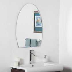 None - Sena Modern Bathroom Mirror - This is the perfect mirror for your hallway,living room or bathroom. The invisible mounting hardware is designed to keep the top and bottom of the mirror flush against the wall.