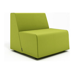 Turnstone - Steelcase - Campfire Half Lounge Wasabi - Size matters—especially when it comes to fire codes.