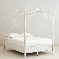 Anthropologie - Forest Canopy Bed - This dreamy bed is sure to give you a cozy night's sleep in the chillier months.