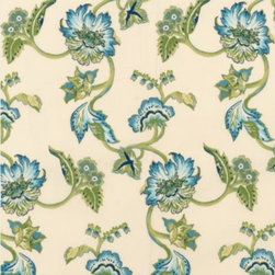 Sanibel Floral Easy Care Fabric by the Yard - The best way to create your perfect outdoor living space is to find a design that fits you best, which is why I love to buy fabric by the yard like this one to create pillows, drapes and more.
