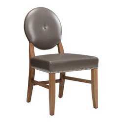 Sunpan Modern - Florence Side Chair (Set of 2) - Features: -Material: Fabric.-Frame: Solid wood.-Lightly distressed.-With silver nail head.-Stretchers add strength.-Make this chair contract viable.-Finish: Reclaimed look.-Please note that the leg color on Sunpan dining chairs does not always match the dining table color.-Please note that although every attempt has been made to ensure accuracy, all dimensions are approximate and colors may vary.-Distressed: No.Dimensions: -Overall Product Weight: 35 lbs.Warranty: -This item is deemed acceptable for both residential and nonresidential environments such as restaurants, hotels, lounges, offices and reception areas. Please note that this item carries the manufacturer's standard ONE YEAR WARRANTY from the date of purchase. Please contact Wayfair customer service or sales representatives for further information.