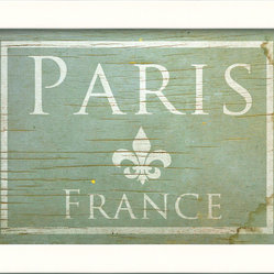 "The Artwork Factory - ""Paris in Blue"" Print - Bring the charm of Paris into your home with this museum-quality print. Utilizing a high resolution, acid-free and fade-resistant paper, this Paris print arrives framed and ready to hang, bringing a simple infusion of timeless international flair to the space it adorns."