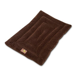 Luca for Dogs - Large Chocolate Studio Mat - The Luca Studio Mat is the perfect resting place for your pooch. Durable, yet ultra soft, this mat is filled with layers of fiber to create a padded resting place. The triple tufting makes this mat highly durable, and 100% washable. Nylon base repels dirt to maintain cleanliness.