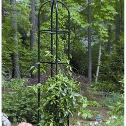 Garden Obelisk - This Garden Obelisk stands 78 inches tall and provides the perfect structure to support vines and flowering plants. The most beautiful gardens feature a variety of heights in them and this beautiful obelisk will add tall stature and interest to your garden.The Garden Obelisk is constructed of steel tubing with a black powder-coat finish and is weather-resistant. Assembly required. Dimensions: 15 diam. x 78H inches.Gardman USA Inc. is a subsidiary of Gardman Ltd. the largest supplier of decorative lawn and garden and bird care products in the United Kingdom. Gardman has won the Garden Industry Manufacturers Association (GIMA) Supplier of the Year award for the last four years in a row. Through this association Gardman USA has become one of the fastest-growing suppliers of decorative lawn and garden and bird care products in the United States. Gardman's goal is to provide high-quality well-designed functional products that offer consumers true value for their money.