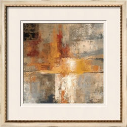 Artcom - Silver and Amber Crop by Silvia Vassileva - Silver and Amber Crop by Silvia Vassileva is a Framed Giclee Print set with a TATIANA Cream wood frame and Soft White and Soft White matting.