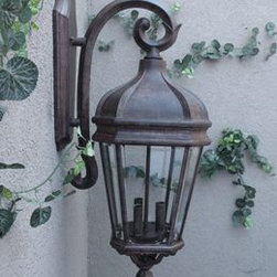 CG Products - Gallery Series ML8692 Ballister Wall Mount Light - This cast aluminum light is built to last. The finial tints include a dark brown combined with black to give it a weathered, slightly older antique finish. The hand rubbed bronze