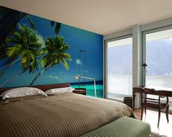 Tropical Mural in Bedroom - artistichomeowner.com