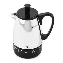 Kito - Silver and Sleek Kitchen Coffee Pot Appliance Shaped Kitchen Timer - This gorgeous Silver and Sleek Kitchen Coffee Pot Appliance Shaped Kitchen Timer has the finest details and highest quality you will find anywhere! Silver and Sleek Kitchen Coffee Pot Appliance Shaped Kitchen Timer is truly remarkable.