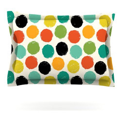 """Kess InHouse - Daisy Beatrice """"Retro Dots Repeat"""" Multicolor Pillow Sham (Cotton, 30"""" x 20"""") - Pairing your already chic duvet cover with playful pillow shams is the perfect way to tie your bedroom together. There are endless possibilities to feed your artistic palette with these imaginative pillow shams. It will looks so elegant you won't want ruin the masterpiece you have created when you go to bed. Not only are these pillow shams nice to look at they are also made from a high quality cotton blend. They are so soft that they will elevate your sleep up to level that is beyond Cloud 9. We always print our goods with the highest quality printing process in order to maintain the integrity of the art that you are adeptly displaying. This means that you won't have to worry about your art fading or your sham loosing it's freshness."""