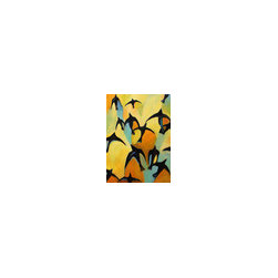 "Original Contemporary Art, Colorful Abstract, ""SpiritBirds no. 5"" - Spirit Birds no 5"