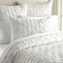 ISABELLE TUFTED VOILE QUILT & SHAMS - Light, airy cotton voile finished with textural tufted details forms this versatile, comfortable bedding that's perfect for adding warmth and rustic-luxe style year-round.